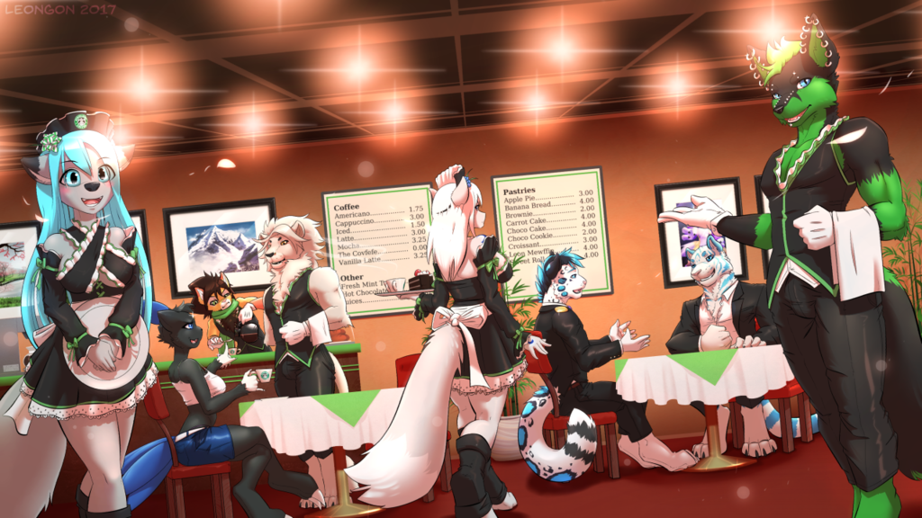 Starlion's Maid Cafe (YCH#16)