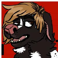 Sweaty dog [Commission]