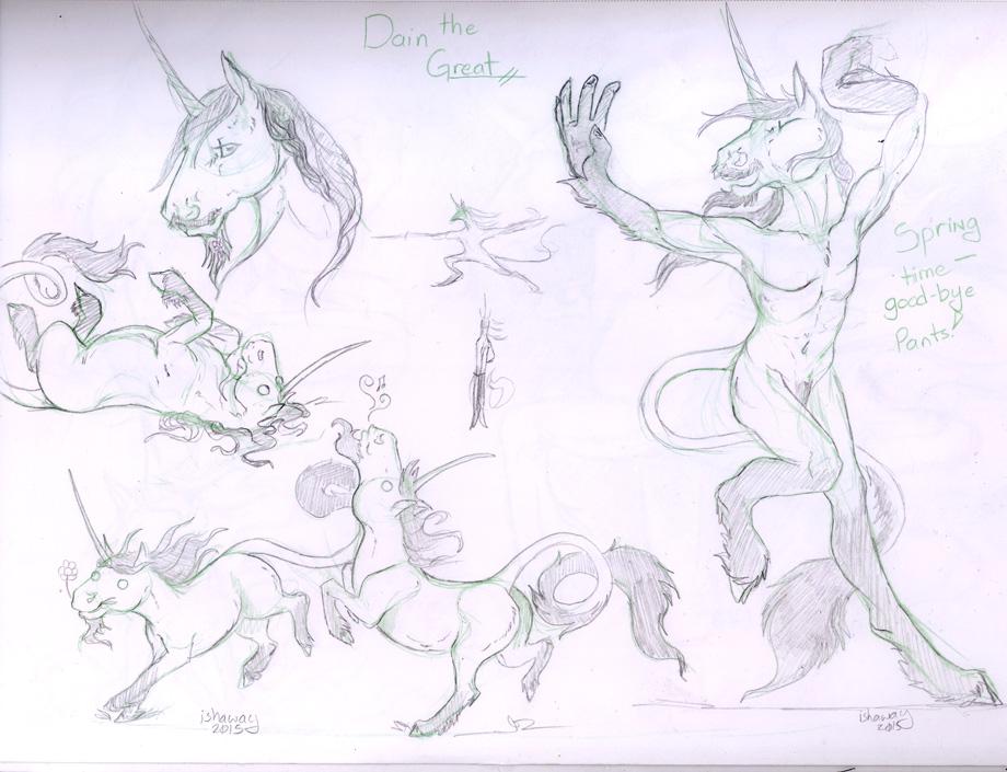 Sketch Page - Dain Unicorn