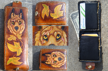 Wallet: Wolf and Ivy