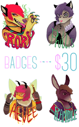 conbadges - 30 bux - come gettem