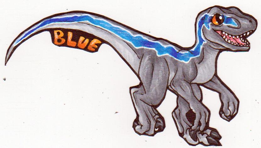 Chibi badge - Blue