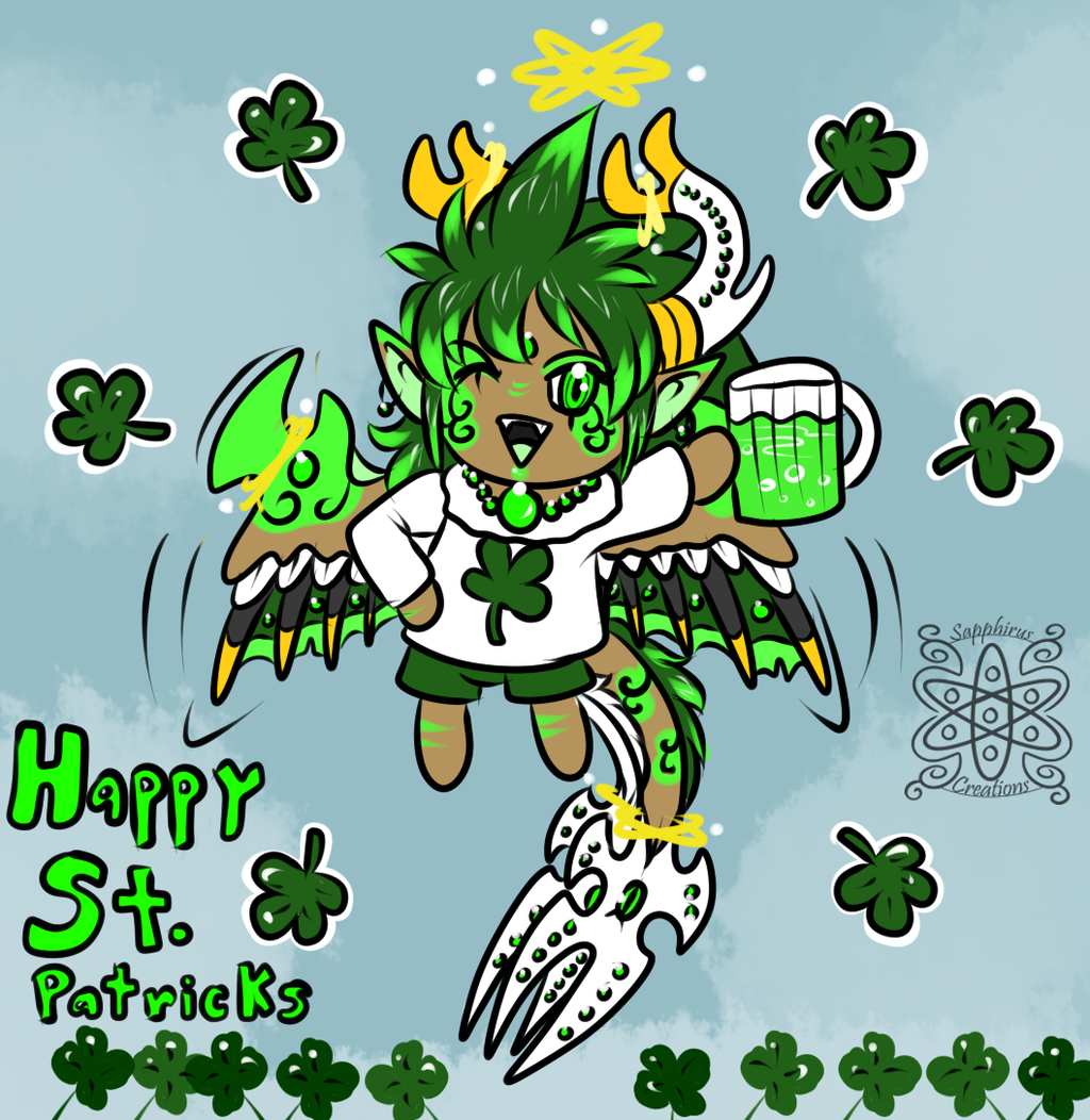 Happy St. Patricks day! +Chibi Sapph+