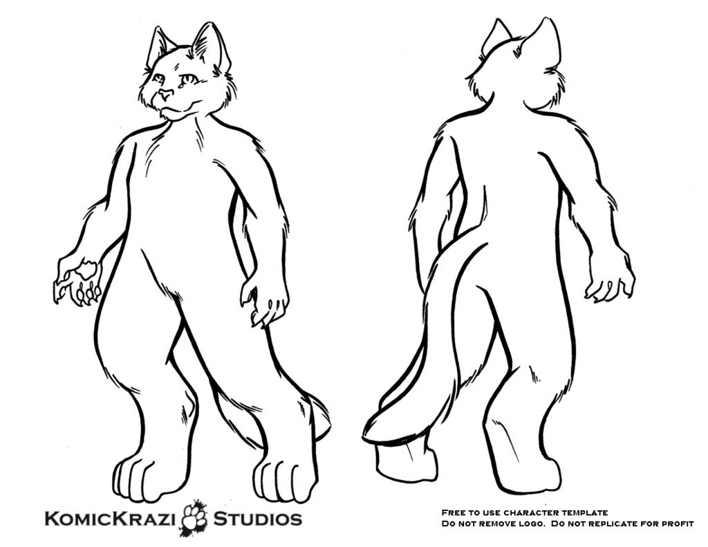 Digitigrade Small Feline - Free Character template