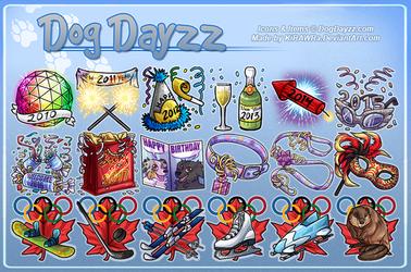 DogDayzz: Holidays - New Year, BDay, Misc