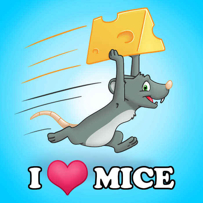 I Heart Mice Button