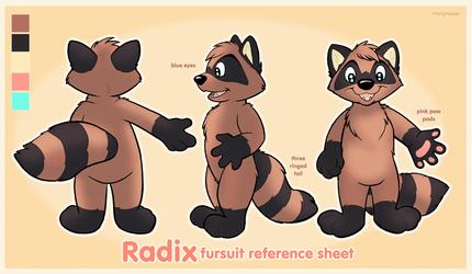 Radix Fursuit Reference Sheet