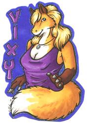 Vixy Badge - By HollyAnn