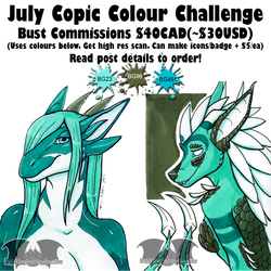 July Copic Colour Bust Commissions - OPEN