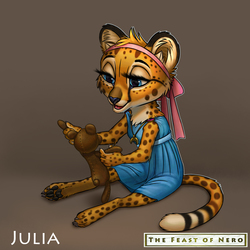 Julia and her toy(happy version)
