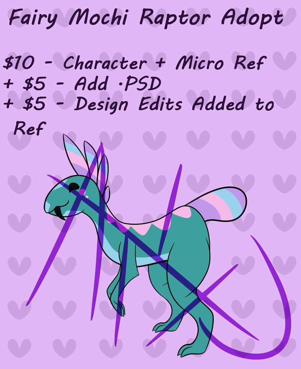 (Closed!) Fairy Mochi Raptor Adopt