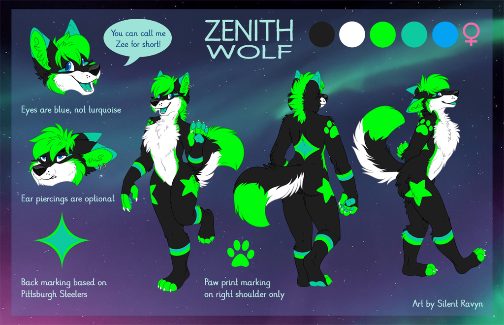 Zenith Wolf Reference Sheet