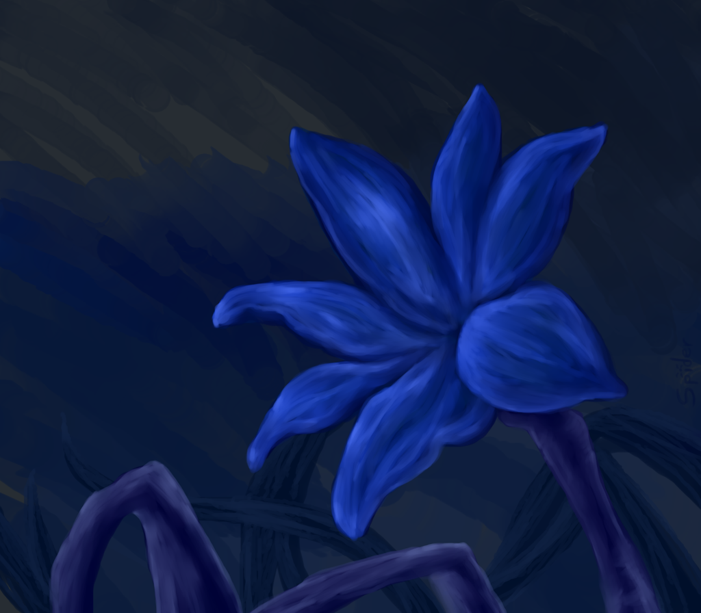 Blue Lily Speedpainting
