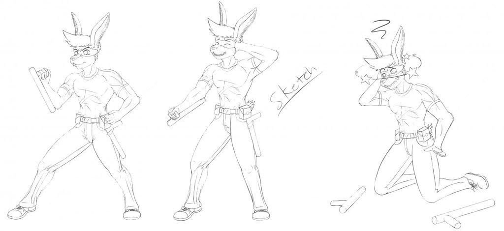 Phantom Tourney Poses (Sketches)