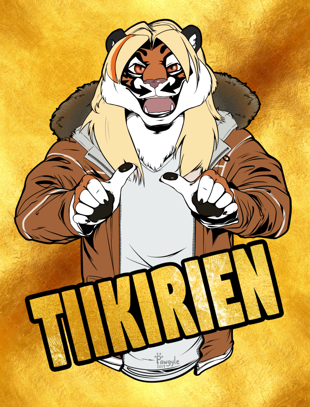 Quilted badge for Tiikirien, Digital version