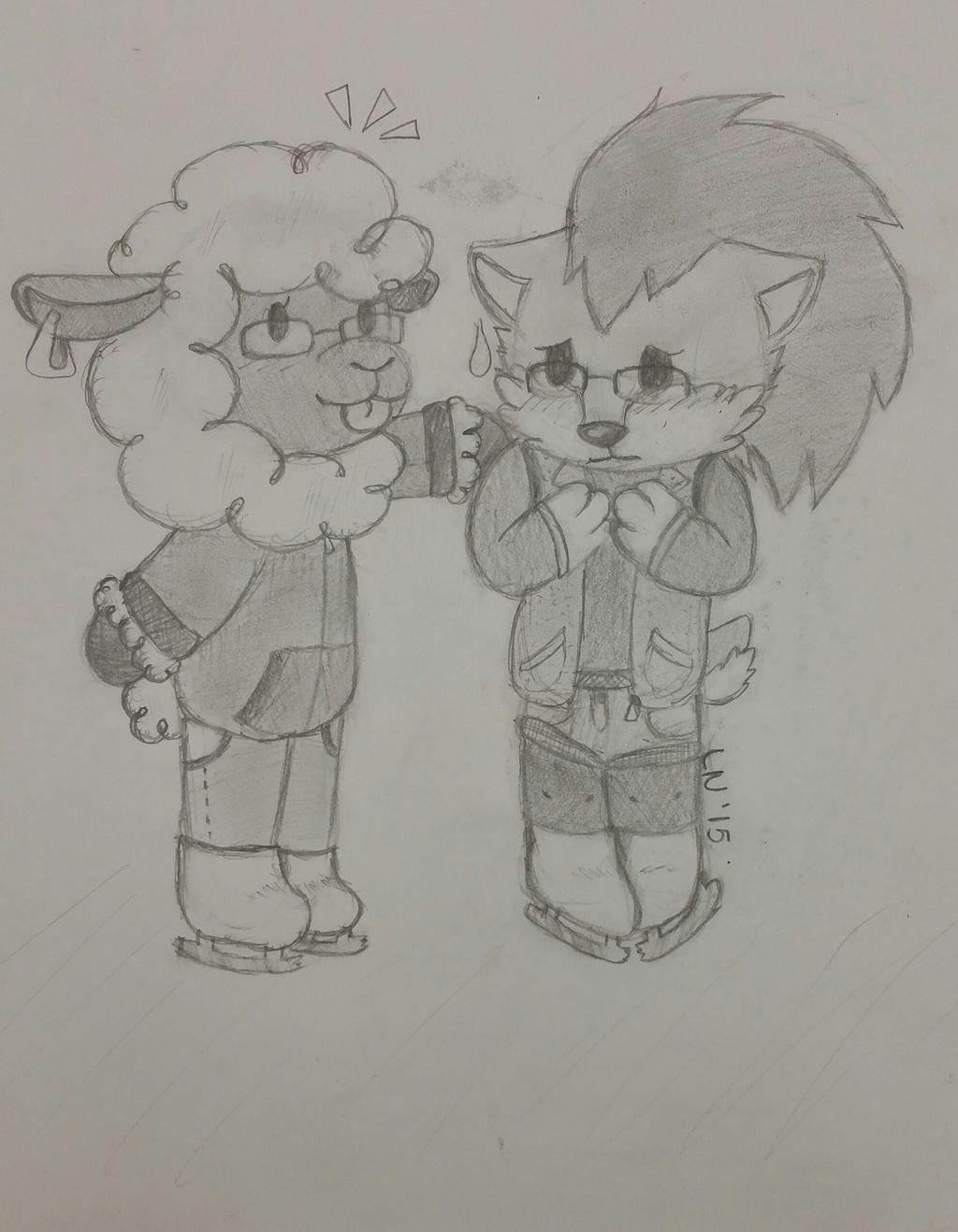 Sheepy and Sugar on Ice