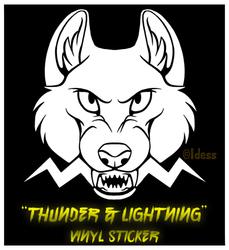 """Thunder & Lightning"" Vinyl Sticker"