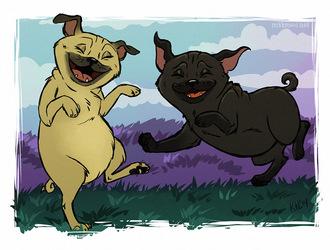 Happy Pugs