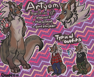 my hand is broken but at least artyom finally has a refsheet