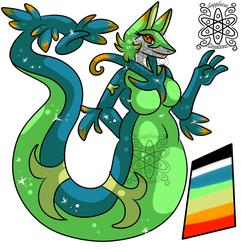 Shiny Female Serperior +Custom adopt commisson+