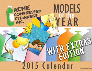 Full Acme Compressed Cylinders Calendar w/ Extras