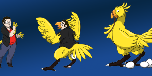 Mogg is now a chocobo~