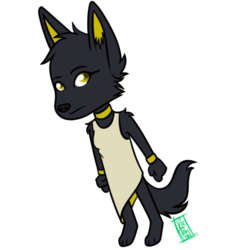 [daily doodle] Anthro Jackal
