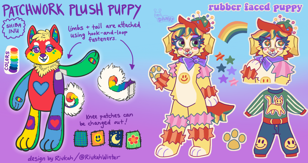 (OPEN) Rainbow Puppy Collab Adopts