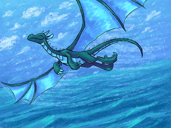Sky, Sea, and Shace by Jazaaboo