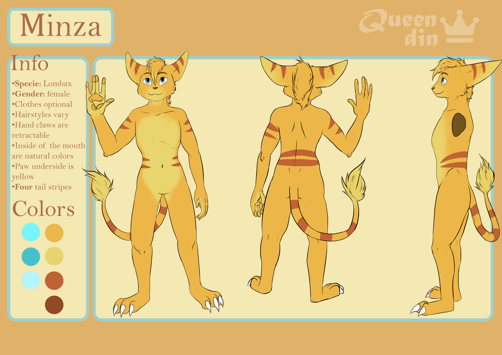 Most recent image: Minza reference - Commission