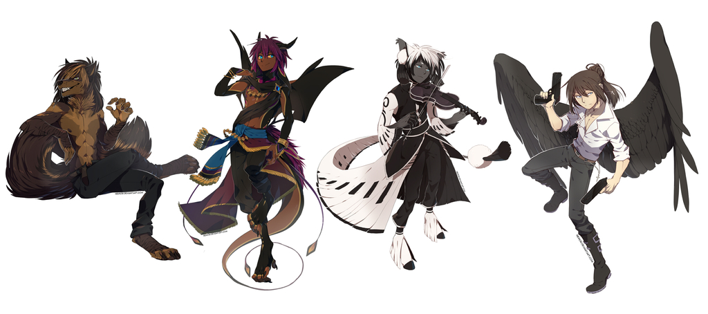 Most recent image: Fullbody Commissions Bunch 03