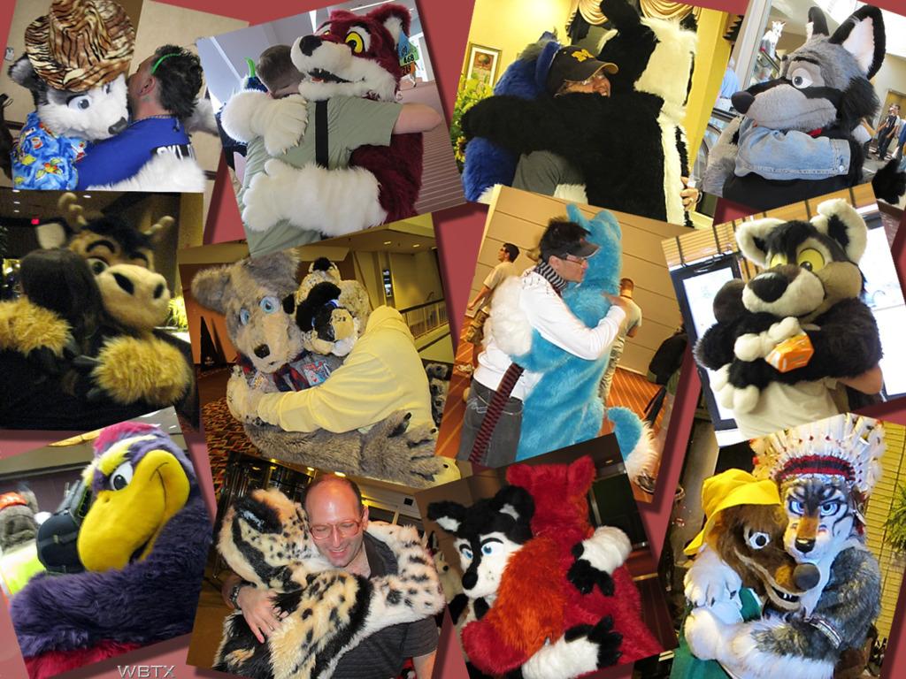 A Whole Lotta Huggin' Goin On! - 2010 Fursuit Hugs Montage!