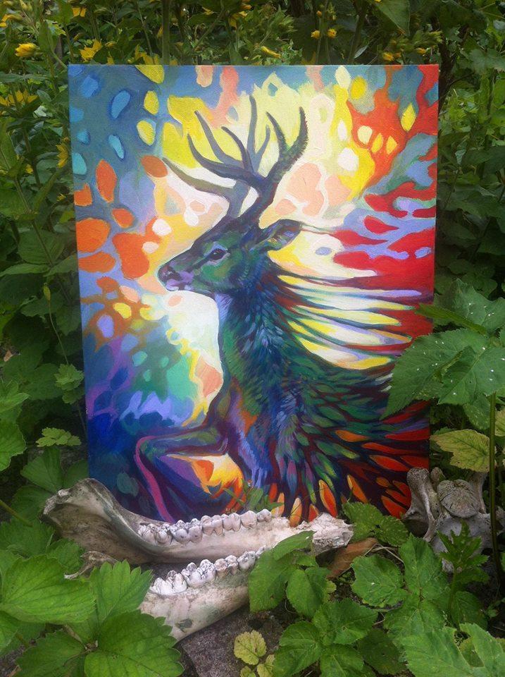 Deer painting
