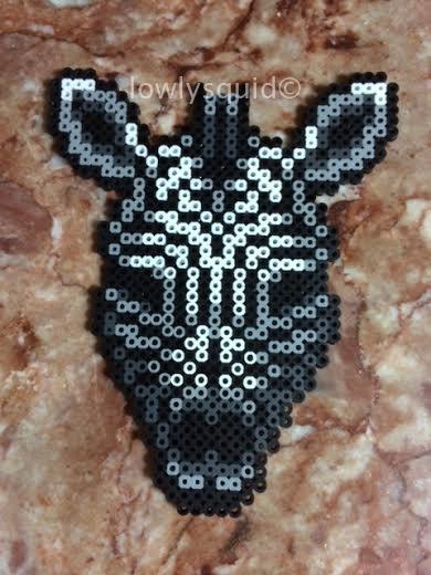 Zebra Bead Badge