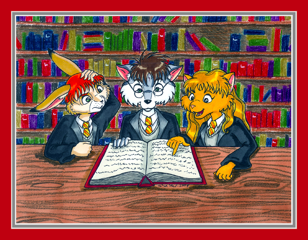 HP and Friends as Furries