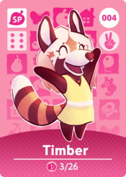 Animal Crossing Amiibo Card: Timber
