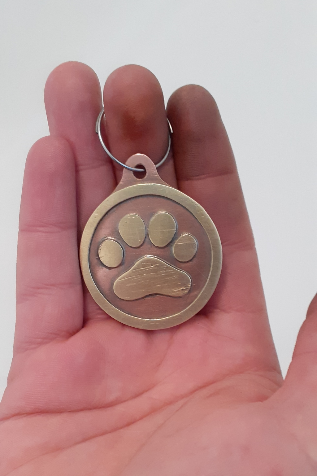dog tag/ keyring