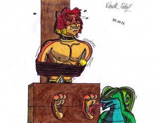 A Ticklish Lion 2