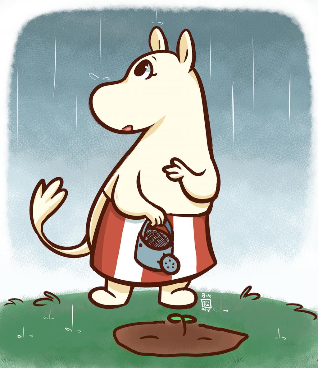 Moominmamma and the Rain