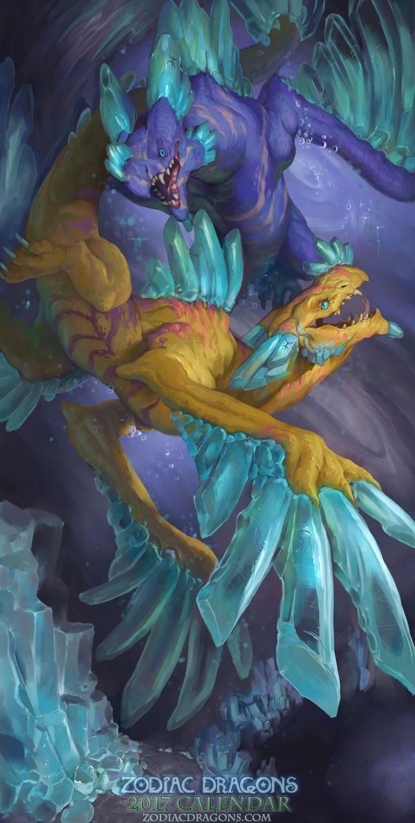 2017 Zodiac Dragons Calendar - Pisces Dragon