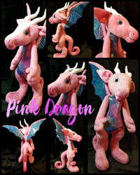 Pink Dragon Plushie