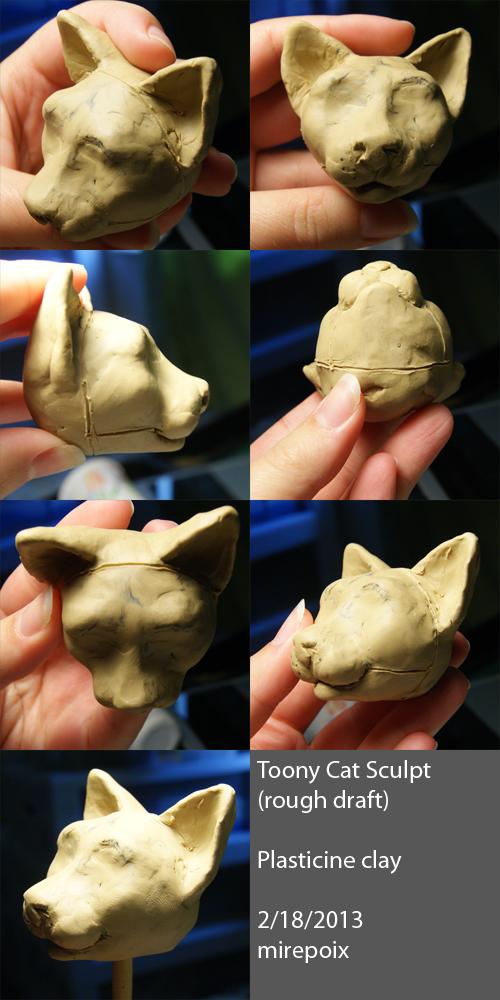 Mini toony cat sculpt