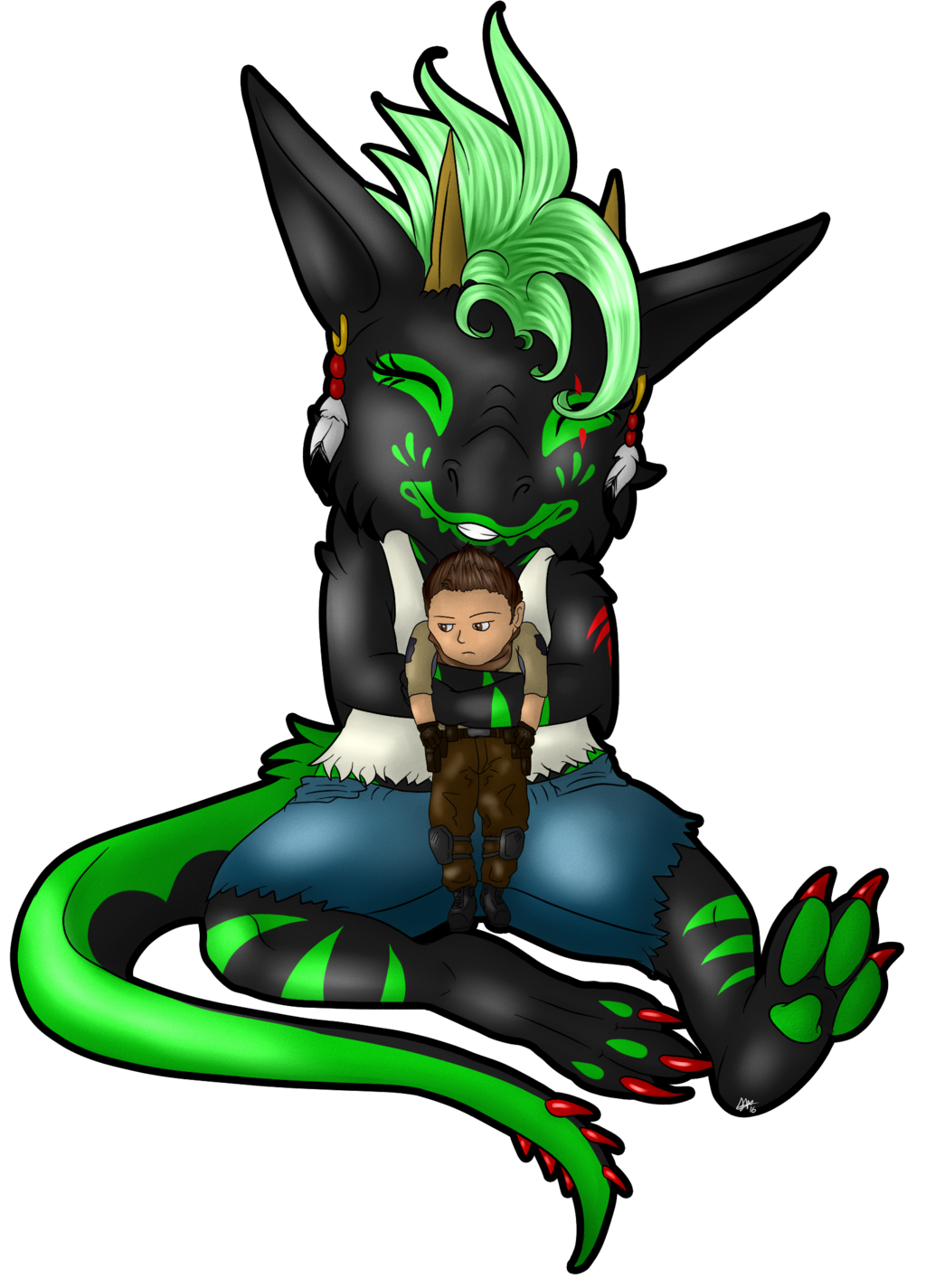 Chibi Tai and Tiny Piers-AT