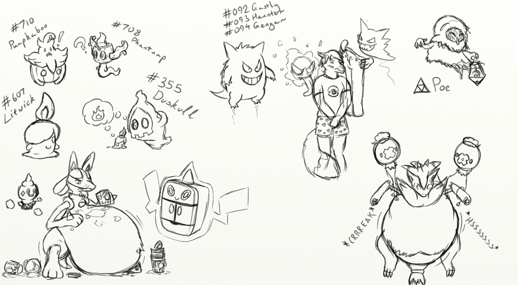 Halloween Stream Sketches
