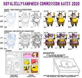 Royaljellysandwich Commisison Rates 2020