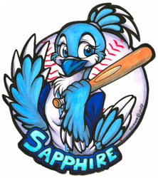 Sapphire Badge (Anthrocon 2017)