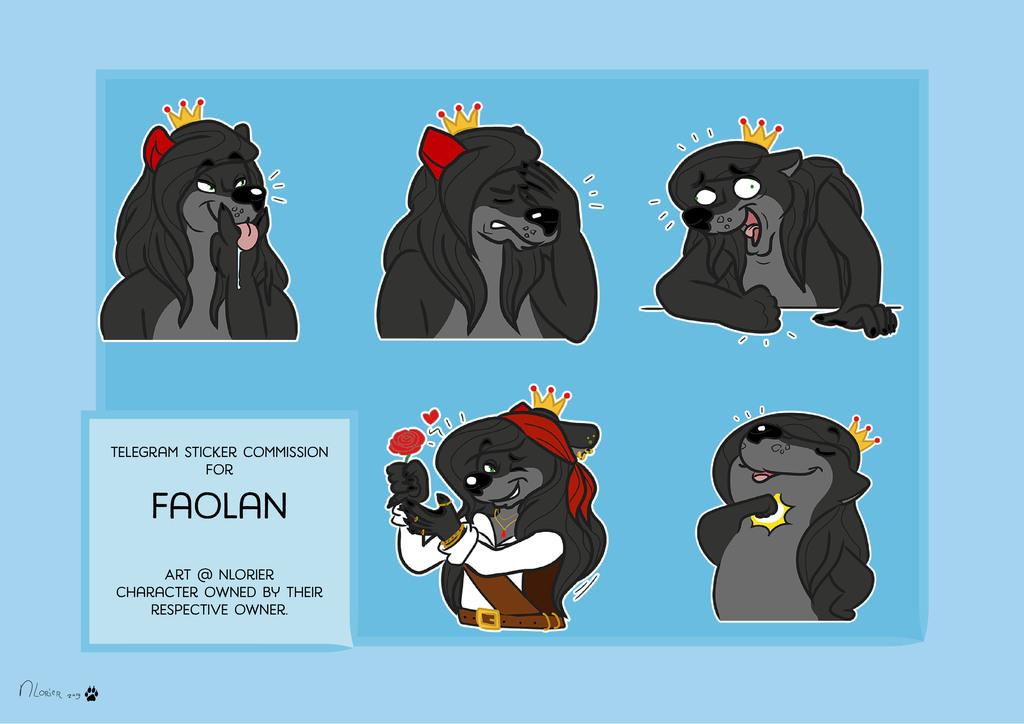 Telegram stickerpack commission for DarkFaolan
