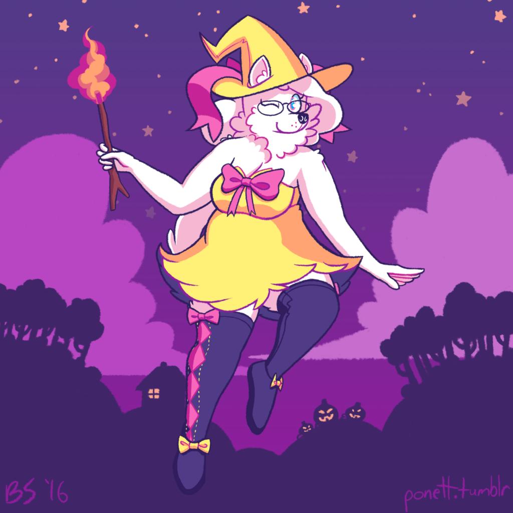 Halloween 2k16 - Braixen Witch costume