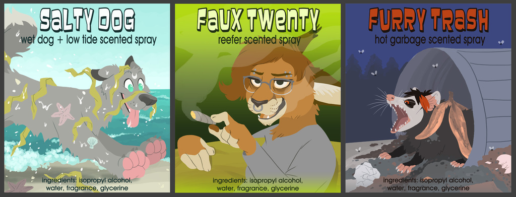 Three NEW Fursuit Spray scents!