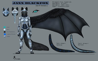 Sci-fi Jaxx Blackfox Ref' Sheet 1